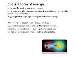 is light a form of energy chapter 41 light objectives in this section you will learn 1 that