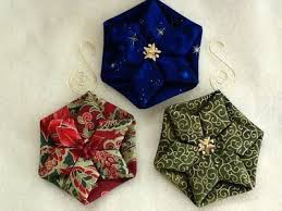 folded fabric quilted ornaments tutorials complete with