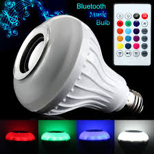 6w E27 Rgb Wireless Bluetooth Speaker Music Bulb Playing Dimmable
