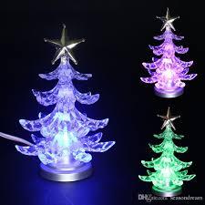 tree ornaments usb colorful clear led flash