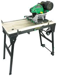 sliding table tile saw itc power tools 10 2 5 h p sliding table tile saw with stand