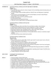 sap crm technical consultant resume sap functional consultant resume samples velvet jobs