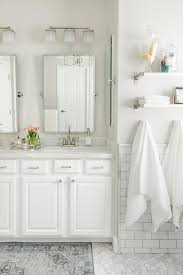 pottery barn bathrooms ideas white and gray bathroom with blue and gray rug transitional within