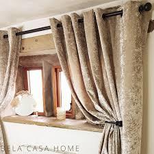 Gold Velvet Curtains Buy Gold Bela Casa Home Gold Crushed Velvet Curtains 90 X 90 At