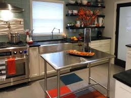 stainless steel topped kitchen islands stainless steel kitchen island cart evropazamlade me