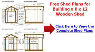 Free Wooden Storage Shed Plans by Free Storage Shed Plans 8 12 How To Build An Amish Shed Shed