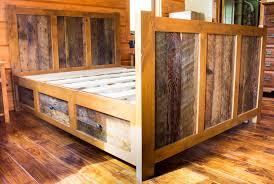 Reclaimed Wood Bed Frames Bedroom Barnwood Bedroom Furniture Barn Headboard Wooden