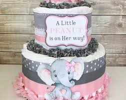 elephant centerpieces for baby shower girl cakes alldiapercakes