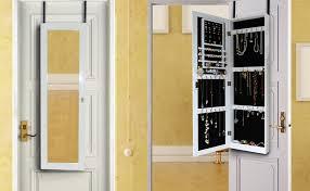 Door Cabinet Wall Mount Jewelry Armoire Wooden The Door