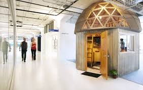 airbnb cool office design dome office interiors beehive shed