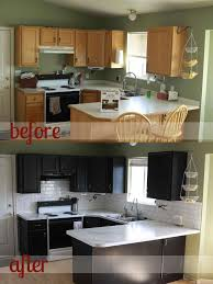 Painting Kitchen Cabinets White Before And After Pictures Paint Kitchen Cabinets Black Before After Deductour Com