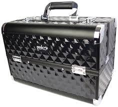 geko 1 piece vanity case makeup box heavy duty black amazon co
