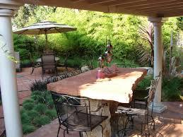 Backyard Stone Patio Ideas by Stone Patio Tables Ideas Homesfeed