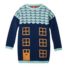 sweater house house sweater blue by donna wilson 100 lambswool made in