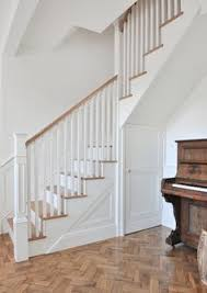 Oak Banisters And Handrails A Softwood Winder Staircase For A Loft Conversion Painted White