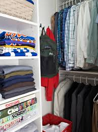 tackling storage in a teenage closet hgtv