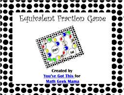 pattern practice games visual equivalent fractions game printable free
