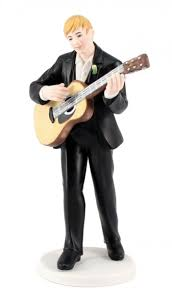guitar cake topper serenading guitar groom mix and match