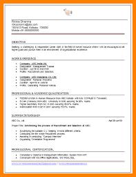 hr cv sample for freshers 16 mba fresher resume sample new hope stream wood