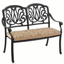 amalfi cast aluminium garden bench with cushion uk 314 99