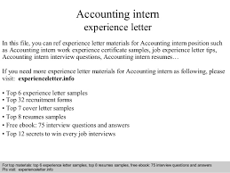 Resume For Internship Position Sample by Accounting Intern Experience Letter 1 638 Jpg Cb U003d1408680241