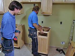 install kitchen base cabinets how to replace kitchen cabinets how tos diy