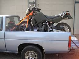 old nissan truck my klr650 tied to an old nissan pickup u2013 oregon ride guide