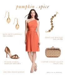 orange fall wedding
