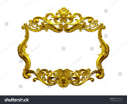 royalty free golden frame with baroque ornaments 387626245 stock