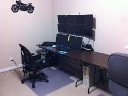 Dual Monitor Computer Desks Build Monitor Computer Desk Diy Pdf Waterproof Wood
