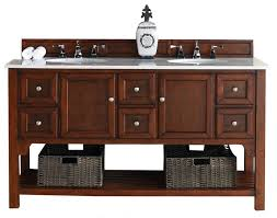 Double Vanity Units For Bathroom by 60 Inch Country Oak Finish Double Sink Transitional Bathroom Vanity