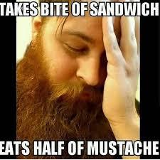 Guy With Mustache Meme - funny beard meme beard humor bearded men problems beard