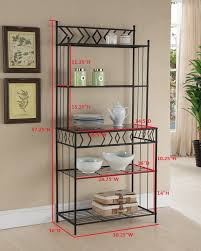 Bakers Rack Console Amazon Com Kings Brand Furniture Metal With Marble Finish 5 Tier