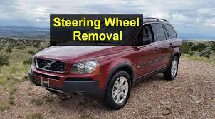 volvo jeep 2005 steering wheel removal p2 volvo u002705 xc90 votd youtube