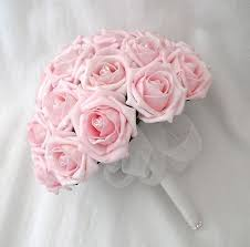wedding flowers pink flowers bouquets or bridesmaids posy bouquet in baby pink