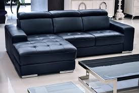 design of blue leather sectional sofa donato modern leather