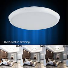 12 Inch Flush Mount Ceiling Light Inch 24w 2160lm Dimmable Ceiling Light White Warm