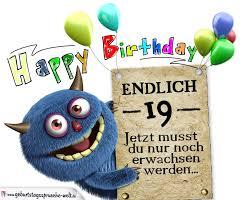 glückwünsche zum 19 geburtstag lustig erwachsen - Spr Che Zum 19 Geburtstag