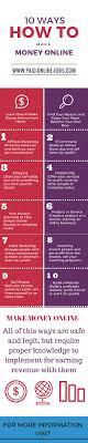 Make Money Online Blogs - ways how to make money online infographic