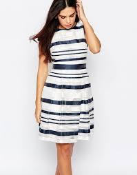 warehouse organza stripe dress multi women dresses warehouse