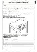 properties of materials 4 stiffness grade 5 matter and