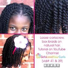 corkscrew box braids video tutorial youtube channel