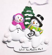 will you me snowmen proposing personalized