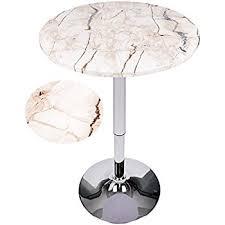 Adjustable Bistro Table Amazon Com Elecwish Modern Round Bar Table Adjustable Bistro Pub