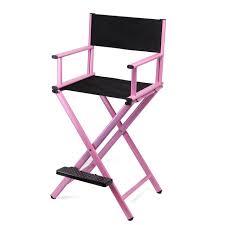 makeup stool for makeup artists online shop aluminum frame makeup artist chair black pink color