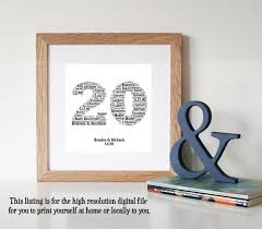 20 year wedding anniversary ideas the 25 best 20th anniversary gifts ideas on 20th