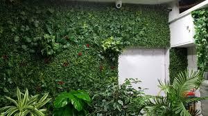 vertical garden artificial plants vertical green wall by ankur nursery mumbai india