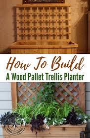 how to build a wood pallet trellis planter