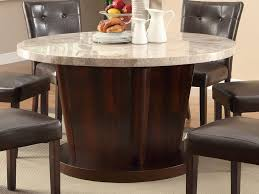 dining room vintage round marble dining table top with wooden