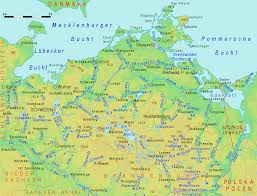 Physical Map Of Germany by Physical Map Of Mecklenburg Vorpommern 2008 Full Size